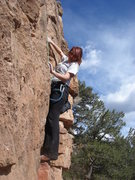 Rock Climbing Photo: Ashley getting started on Ladies' Night.