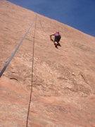 Rock Climbing Photo: Gabby climbing Whale Rider.