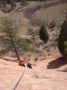 Rock Climbing Photo: Making the big reach....