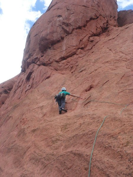 Rock Climbing Photo: Adam Kimmerly leading Unzipped.