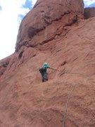 Rock Climbing Photo: Adam Kimmerly leading Unzipped.