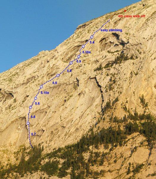 Rock Climbing Photo: Variante à Pétiole Topo