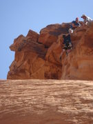 Rock Climbing Photo: Brian throws the totally unnecessary (but fun!) dy...