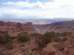Rock Climbing Photo: Long Canyon from Maverick Buttress, Moab, UT.