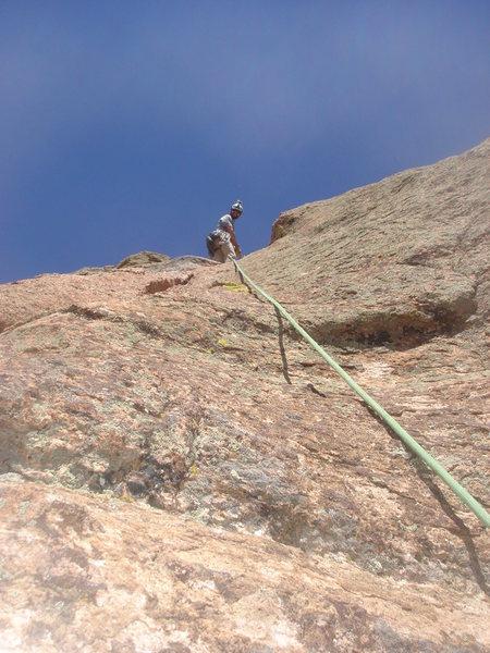 Rock Climbing Photo: Coming up pitch 2.