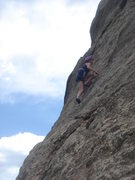 Rock Climbing Photo: Kelly on lead.