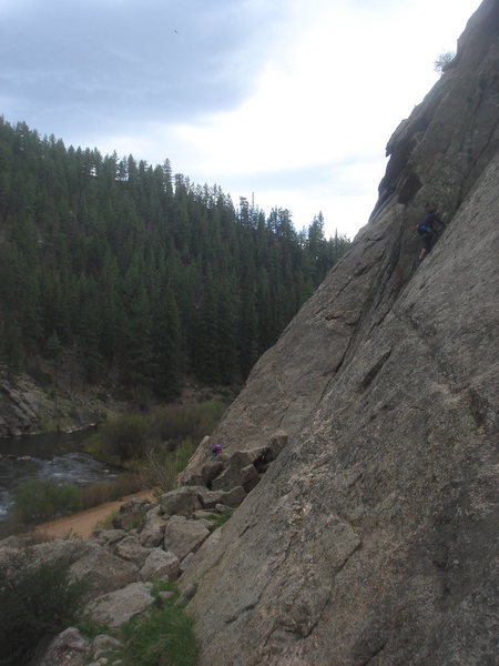 Rock Climbing Photo: Laura climbing Moby Grape.