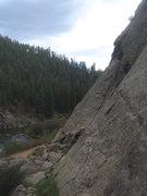 Rock Climbing Photo: Laura climbing Moby Grape.