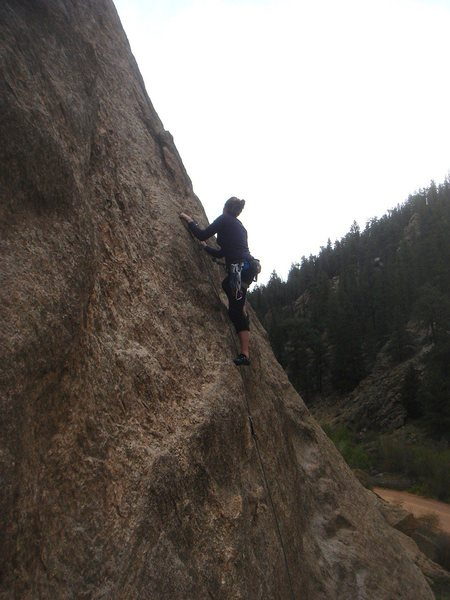 Rock Climbing Photo: Miss New Hampshire leading Miss Wyoming.