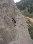 Rock Climbing Photo: Kelly climbing Miss Wyoming.