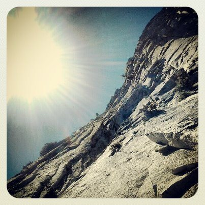 Rock Climbing Photo: Looking up somewhere around the first or second pi...