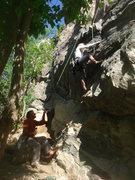 Rock Climbing Photo: Lindsey starting Venice Beach.