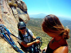 6.9.12::@ the 1st pitch belay station