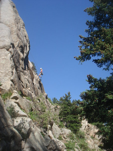 Rock Climbing Photo: Rappeling the Riviera on another beautiful day in ...