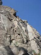 Rock Climbing Photo: Simon at the top.