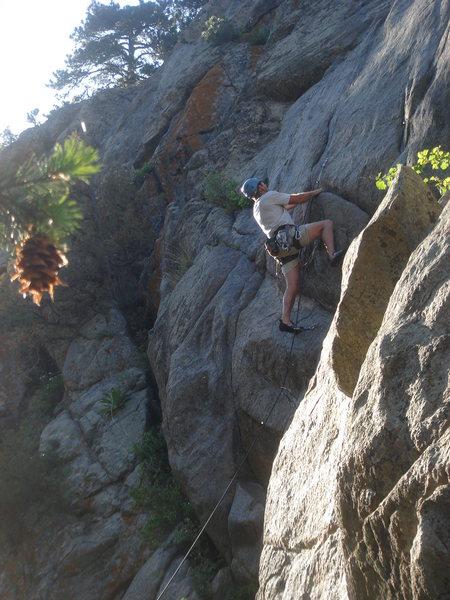 Rock Climbing Photo: Chris leading New Lease on Life.