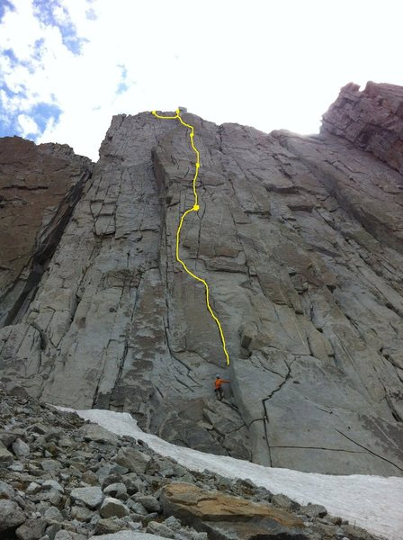 Rock Climbing Photo: The worst topo ever