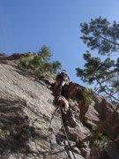 Rock Climbing Photo: Eva leading pitch 1.