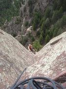 Rock Climbing Photo: Eva coming up pitch 2.