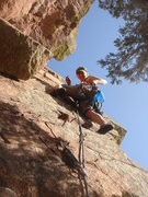 Rock Climbing Photo: Eva leading pitch 3.