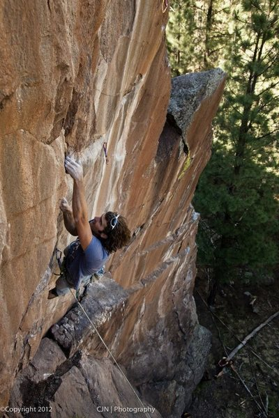 Rock Climbing Photo: Darren on FA of Pie in the Sky, June 2012 Photo: C...