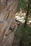 Rock Climbing Photo: Dean Hoffman styling the crux of Mulligan Stew 5.1...
