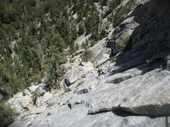 Rock Climbing Photo: After some balancy face moves off the belay, Natha...