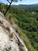 Rock Climbing Photo: Old piton sticking font and center, a shiny bolt d...