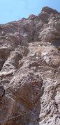 Rock Climbing Photo: Deer Leg beta. Stephen Peinado at the chains