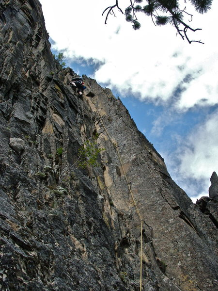 Rock Climbing Photo: Pitch two, loose but well bolted