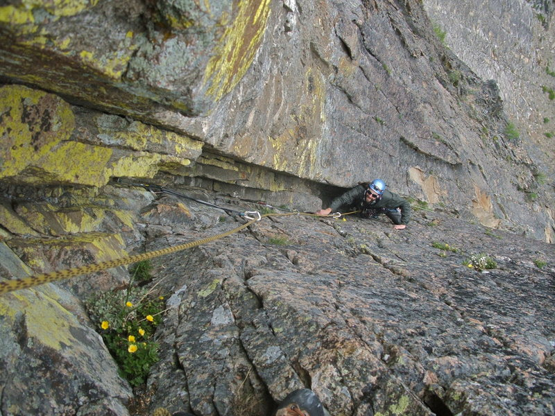 Rock Climbing Photo: Pitch 3, a little scarce for pro at first then nic...