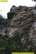 Rock Climbing Photo: Two Pitch Wall  1)Secretly ServicedAgain(5.11) 2)S...