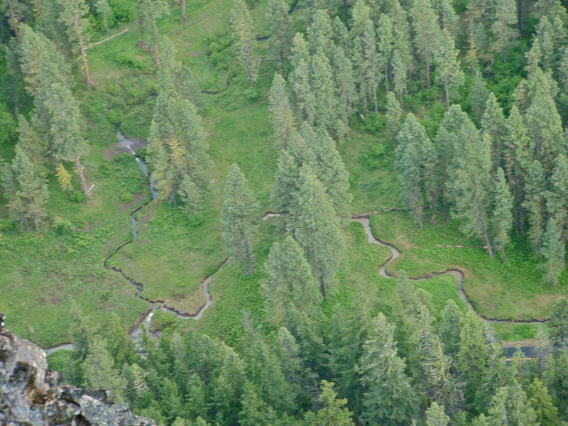 Rock Climbing Photo: Meandering brook