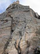 Rock Climbing Photo: Looking up MacDonald-Bartlett start from below. We...
