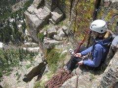 Rock Climbing Photo: Awesome couch belay option for south face finishes...