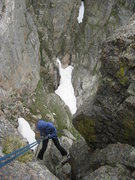 Rock Climbing Photo: Second rap. To find this after the first rap (nort...
