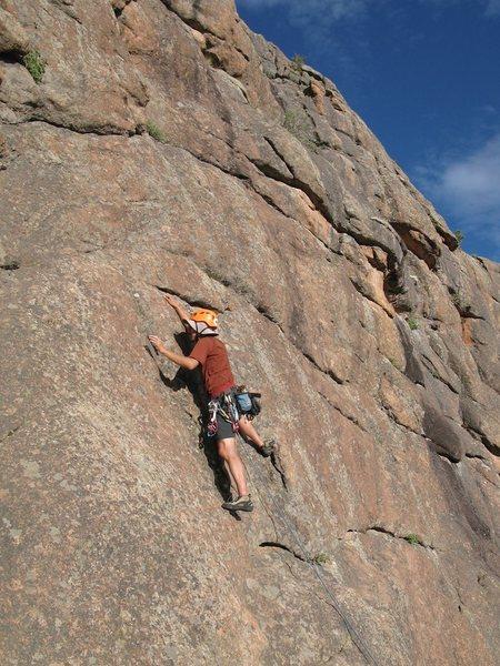 Rock Climbing Photo: South Platte, CO Devli's Head - Passing Lane (5.10...