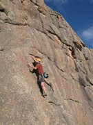 Rock Climbing Photo: South Platte, CO Devli's Head - Passing Lane (5.10...