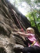 Rock Climbing Photo: MacKenzie a little over half way