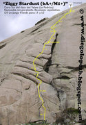 Rock Climbing Photo: Ziggy Stardust 5.10b