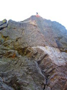 Rock Climbing Photo: TR on The Spine 5.10