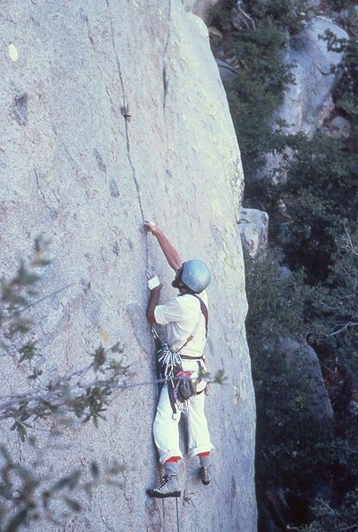 Rock Climbing Photo: Beautiful Loser:  Paul Seibert on the first pitch ...
