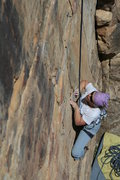 Rock Climbing Photo: H. Langford low on the route.