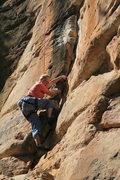 Rock Climbing Photo: H. Langford starting the flake.