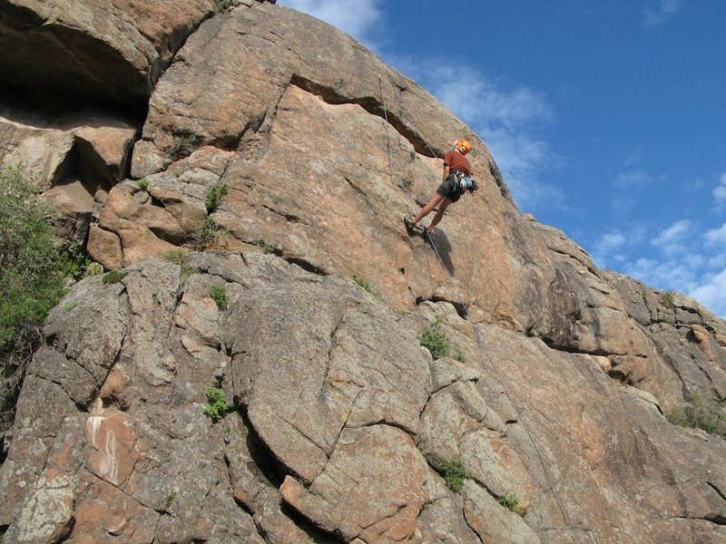 Passing Lane, after falling off the crux.