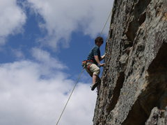 Rock Climbing Photo: Nearing the top of Left Crack