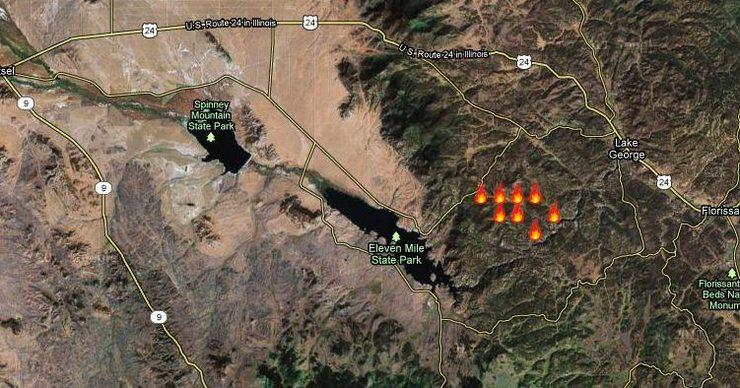 fire near 11 mile Canyon