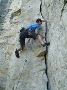 Rock Climbing Photo: Cruising the beginning of Totally Flaked, a very r...
