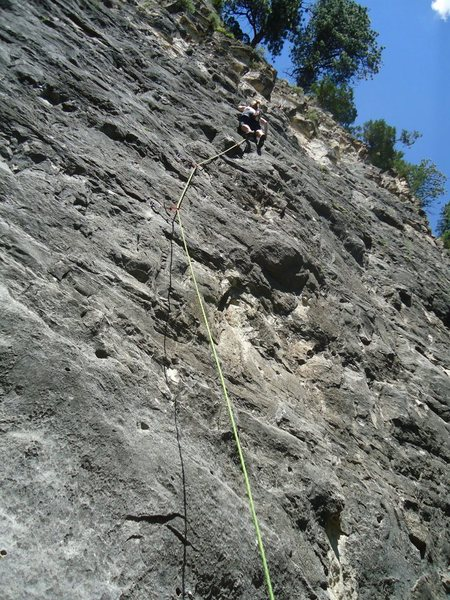 Kelsey Wagner on her first ever outdoor lead/OS!  Rabbit's foot, 5.8.