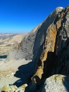 Rock Climbing Photo: first glimpse of the route from the top of the app...